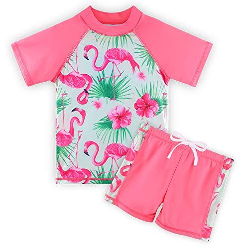 HUAANIUE tieners 2 STKS Badmode Shorts Meisjes Zwemmen Kostuum Badpak 3-14Y Kids Roze Badmode Zomer Strand Zwemkleding voor Meisje Outfit Sunsuit