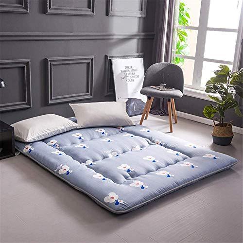 Futon Japanse tatami mat slaapmatras, dikke opdruk, voor matras, eenpersoonsbed, tweepersoonsbed, opvouwbaar, ademend, 120 x 200 cm