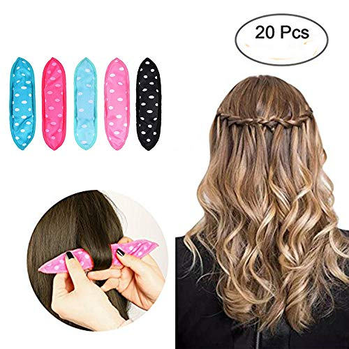 20 Pieces Hair Rollers -DIY Hair Styling Rollers Tools Sleep Pillow Hair Curler Rollers Sponge - For Long/Short Hair Soft Style sleep Hair Rollers Care