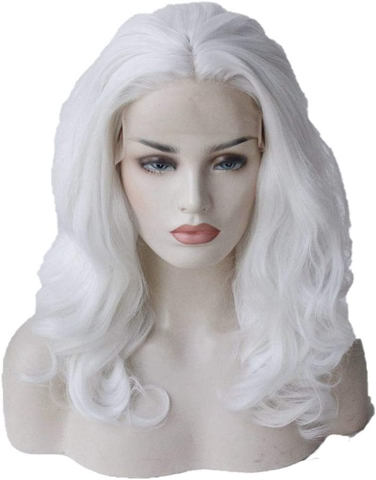 ZHCHL Pink Wig for Women Europe Pure White and lace Natu Max 87% OFF Spring new work