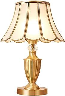 Estilo moderno lámpara de mesa de Lámpara de mesa decorativa lámpara de mesa de cristal de cobre puro lámpara de estudio ...