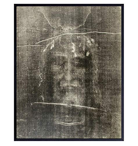 Jesus Wall Decor - Jesus Christ - Shroud of Turin Photo Picture Wall Art Print- Catholic Gifts, Religious Christian Wall Decor for Pastor, Priest, Ordained Minister - 8x10 Poster