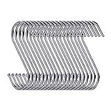 Swatowot 10 Pack S-Form Haken zum Aufhängen 9 cm Kleiderbügel für Küche, Bad, Schlafzimmer und Büro(Silber)