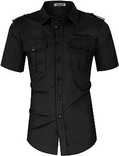 Men's Long Sleeve Tactical Shirt Outdoor Work Cargo Shirt