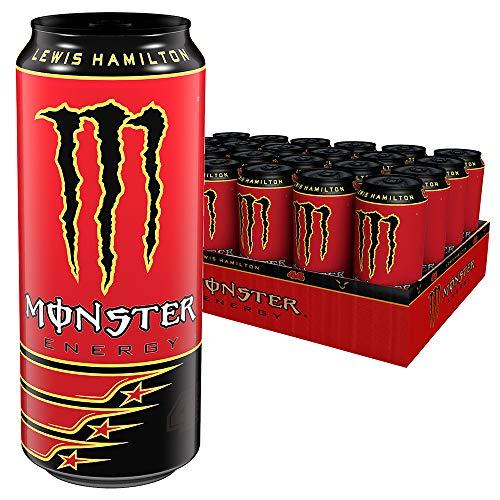 Monster Energy LH44 - entwickelt in Kooperation mit Lewis Hamilton - erfrischender Geschmack, Energy Drink Palette, EINWEG Dose (24 x 500 ml)
