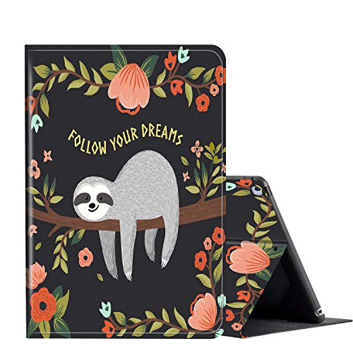 IPad 2/3/4 Case 9.7 ipad case, AMOOK Adjustable Stand Cover Protection with Auto Wake/Sleep Smart Cover for Apple iPad 2nd/3rd/4th Gen 9.7 Inch-Cute Sloth