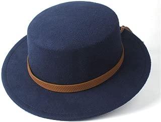 Hat Size 56-58CM Men Women Flat Top Fedora Hat Church Hat Wide Brim Hat Fascinator Jazz Hat Casual Wild Hat Fashion Hat