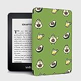 YMXCNM Funda para Kindle - para Amazon Nuevo Kindle 2019 Estuche Etui Magnetic Smart Soft Cover para 2018 Kindle Paperwhite 4 10Th Generation E-Book Shell, Cartoon Avocado, para J9G29R