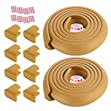 Multifunción Protectores de la esquina y guardias de seguridad Edge Set 2 x 2 m del borde del protector + 8pcs Protección de las Esquinas Para el hogar, dormitorio ( Color : Wood color , Size : 4M )