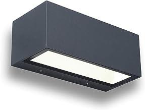"""LUTEC lampa ścienna LED """"Gemini"""", moc światła 20 W, jasne, piękne światło, prostokątna 22 x 8,5 cm, energooszczędna lampa ..."""