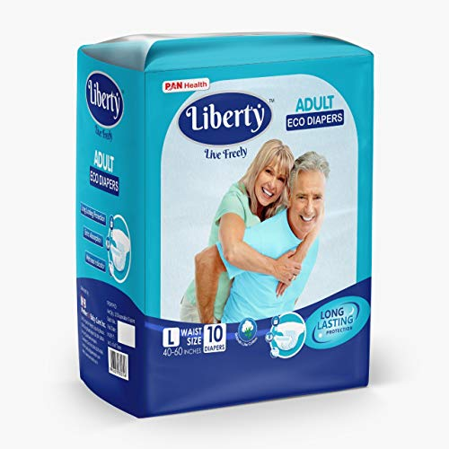 Liberty Adult Diaper, Large -10 Count(101-152 Cms || 40-60 Inch)