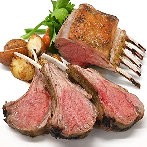 グルメソムリエ ラム肉 ロース ニュージーランド産 グラスフェッド 骨付き 羊肉 仔羊 赤身 (スプリングラム フレンチラック1枚入×1パック)