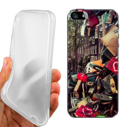 Custodia Cover Case Love Amsterdam per iPhone 5 5G 5S