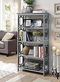 Convenience Concepts Omega 5 Tier Bookcase, Gray