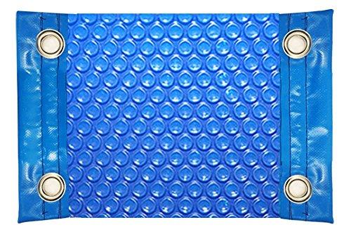 International Pool Protection Manta TÉRMICA (COBERTOR TÉRMICO-Cubierta ISOTÉRMICA-TOLDO para Piscina) DE 600 MICRAS ECONÓMICA con Refuerzo EN LOS Lados Estrechos + Ojales EN Acero Inoxidable (8x3,5m)