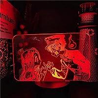 Tatapai 3Dナイトライトクリスマスデコレーションキッズギフトラバランプイリュージョントイレバウンド花子くんやひろねねピンキープロミス3Dアニメランプ色変更ギフト-16色リモート