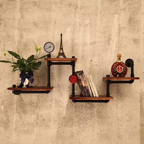 HLDLO muur gemonteerd drijvende planken rustiek hout BIndustrial pijp rekken keuken badkamer planken Plant Brackets boek plank Organizer voor kinderen