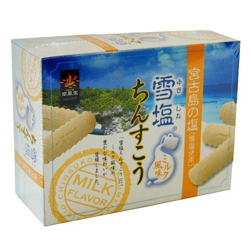 雪塩ちんすこう ミルク風味 (ミニ) 12個入 ×1箱 南風堂 沖縄 人気 土産 宮古島の雪塩を使用したおすすめのちんすこう。