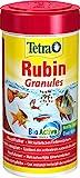 *TetraRubin, Hauptfutter in Granulatform mit natürlichen Farbverstärkern für Zierfische, für intensive Farbenpracht, 250 ml Dose
