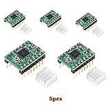 BZ 3D A4988 Stepstick - Modulo motore passo-passo con dissipatore di calore per stampanti 3D, 1,4 MKS Gen L SKR V1.3. (verde)