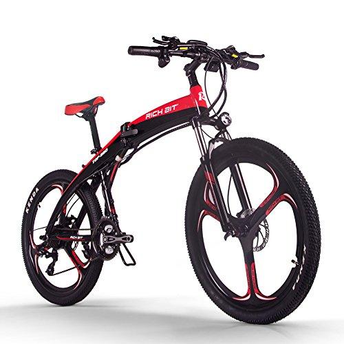 RICH BIT Bicicleta Eléctrica Plegable de 26 Pulgadas E-Bike, Equipar con Batería...