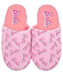 Barbie All Over Print Logo Pink Polyester Womens Slippers (4 UK)