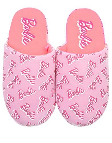 Barbie Chaussons Femme Polyester Rose Imprimé Logo Imprimé