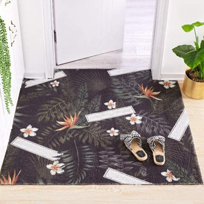 Non-Slip Durable Door Mat, Carpet Entry Mat Welcome Mat Easy to Clean-Black 60x120cm(24x47inch)