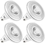Sunco Lighting 4 Pack PAR38 LED Light Bulb with Motion Sensor, 13W=100W, 3000K Warm White, 1,100 LM, Indoor/Outdoor, Motion Activated LED Flood Light - UL & Energy Star Listed