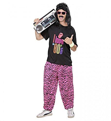 80s BOY Herren Kostüm Pumper Proll Assi Asi 80's Bad-Taste Trash Neon 80er Jahre, Größe:M/L