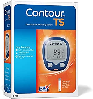 Contour TS Blood Glucose Monitor Glucometer with 10 Free Strips (Multicolor)