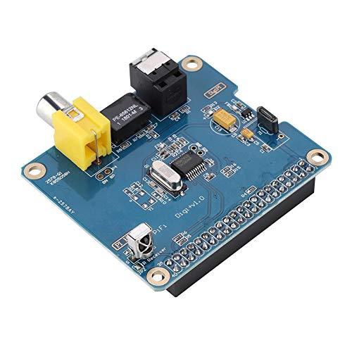 Tarjeta de expansión de sonido, WM8804G Chip HIFI Tarjeta de expansión digital para Raspberry Pi 2 B/B +/A +, Amplificadores de componentes de audio Reproducción de varias habitaciones a través