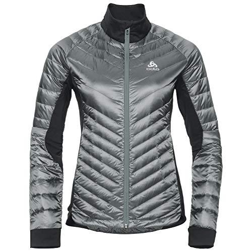 Odlo Damen Insulated Cocoon N-Thermic Light Jacke Silver Grey-Black, XS