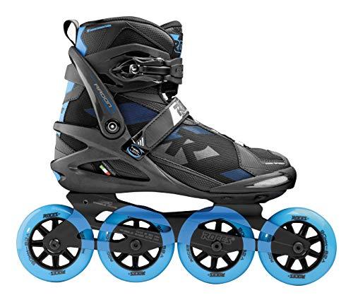 Roces Herren Radon TIF Inline Skates, Black-Brilliant Blue, 43