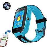 TKSTAR 1.44 Inch Smartwatch Bambini,Orologio Phone con Touch Screen SOS chiamata Watch LBS Attivit¨¤Tracker Localit¨¤Finder,Telecamera Remota Monitor,Torcia Elettrica Orologio Telefono TKS4(blu)