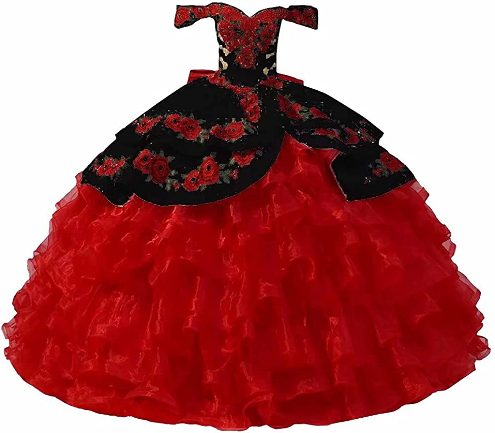 Floral Applique Pearls Quinceanera Style Dresses Mexcian Charro Charlotte Mall Sale item