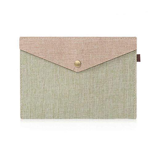 A4 / A5 File Folder, Filz einfache elegante Imitation Leinensegeltuch-Tasche Datei für Bürobedarf (S, Armee grün)