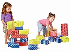 Image: Edushape 709052 Corrugated Blocks (52 Piece) | Easy-grip pieces assist in development of fine and gross motor skills as well as hand-eye coordination