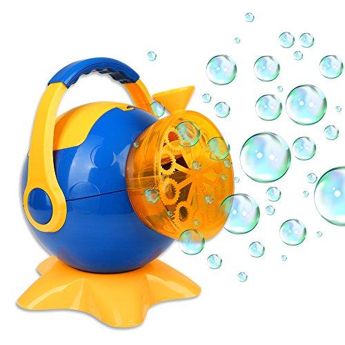 Schramm® Seifenblasenmaschine Bubble Maker Seifenblasen- Maschine Seifenblasenkanone Seifenblasen...
