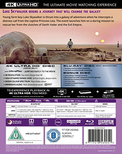 Star Wars Episode IV: A New Hope [Blu-ray] [2020] [Region Free]