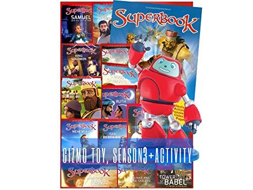 Superbook Gizmo Figurine, Superbook Season 3 Full Set (13 Episodes) + Activity Book