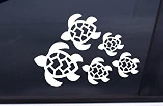 Keen Turtle Family Decal, Turtles Swimming Decal | Car, Truck, Wall, Laptop, Phone...| 7 X 4.8 In | KCD221