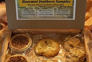 Gourmet Southern Sampler/Gift Box With Two Pecan Pies - Two Giant Pecan Cookies - Three Pecan Pralines