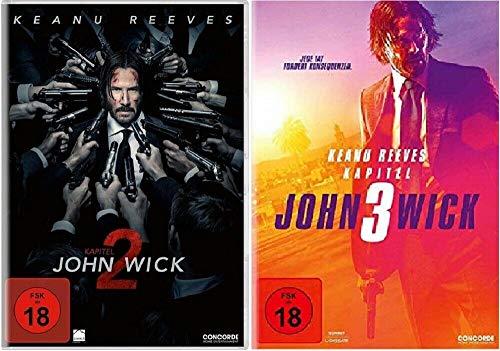 John Wick 2+3 Kapitel 2+3 / Teil 2+3 [DVD Set]