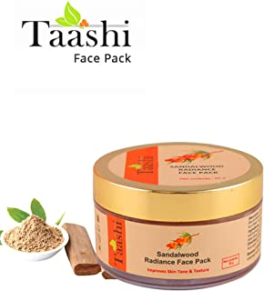 Taashi Sandalwood Radiance face Pack - 50 Gms, goodness of sandalwood, jasmine oil, Sea buckthorn for youthful, fresh and radiant skin, Paraben free, suitable for all skin types, for men & Women