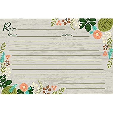 Meadowsweet Kitchens RCP/VF40 40 Recipe Cards, Beige