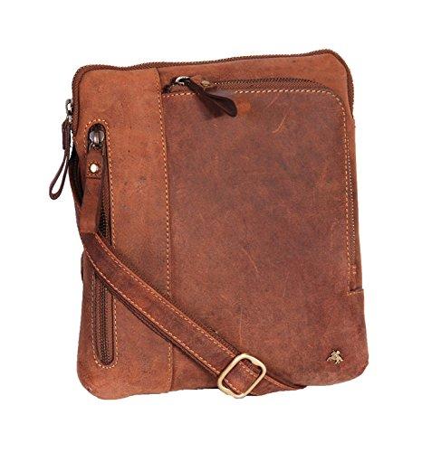 A1 FASHION GOODS Sac Bandoulière En Cuir Véritable Des Hommes Millésime Affligé Regardez Messenger iPad Tablet Vol Sac - A650 Bronzer