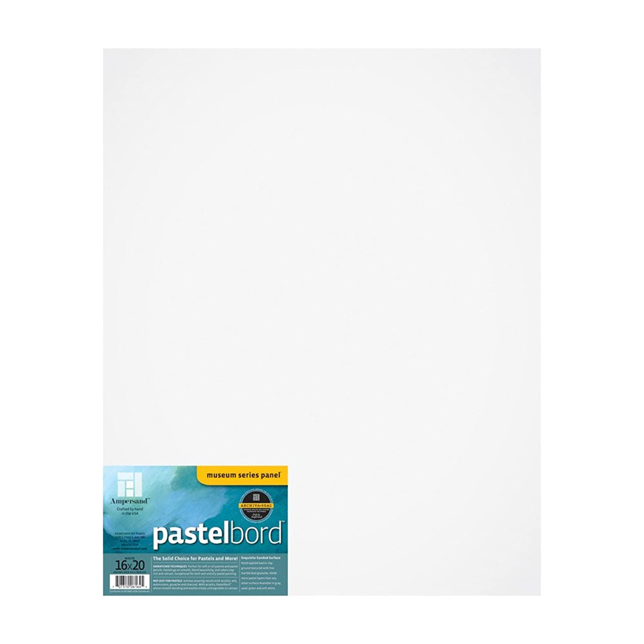Ampersand Pastelbord 16 in. x 20 in. white each