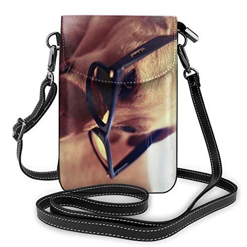 Gafas Labrador Retriever Bolso Crossbody para teléfono celular, bolso de teléfono, bolso cruzado para teléfono celular