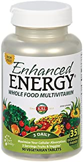 KAL Enhanced Energy Iron Free Tablets, 90 Count